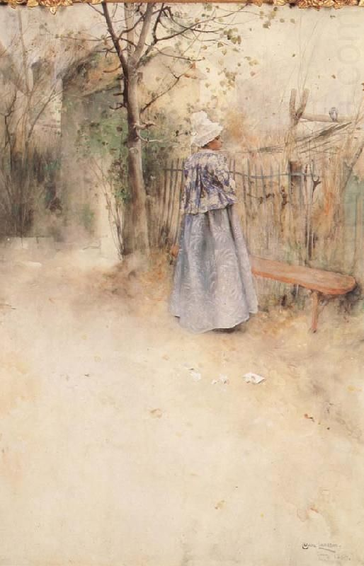 The Athenaeum - Autumn Carl Larsson (1884) Private collection Painting - watercolor