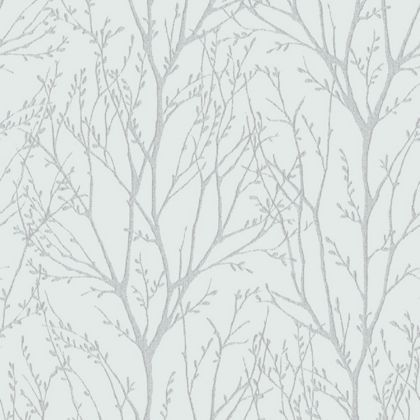 Fine Decor Delamere Wallpaper - Blue and Silver at Homebase -- Be inspired and make your house a home. Buy now.