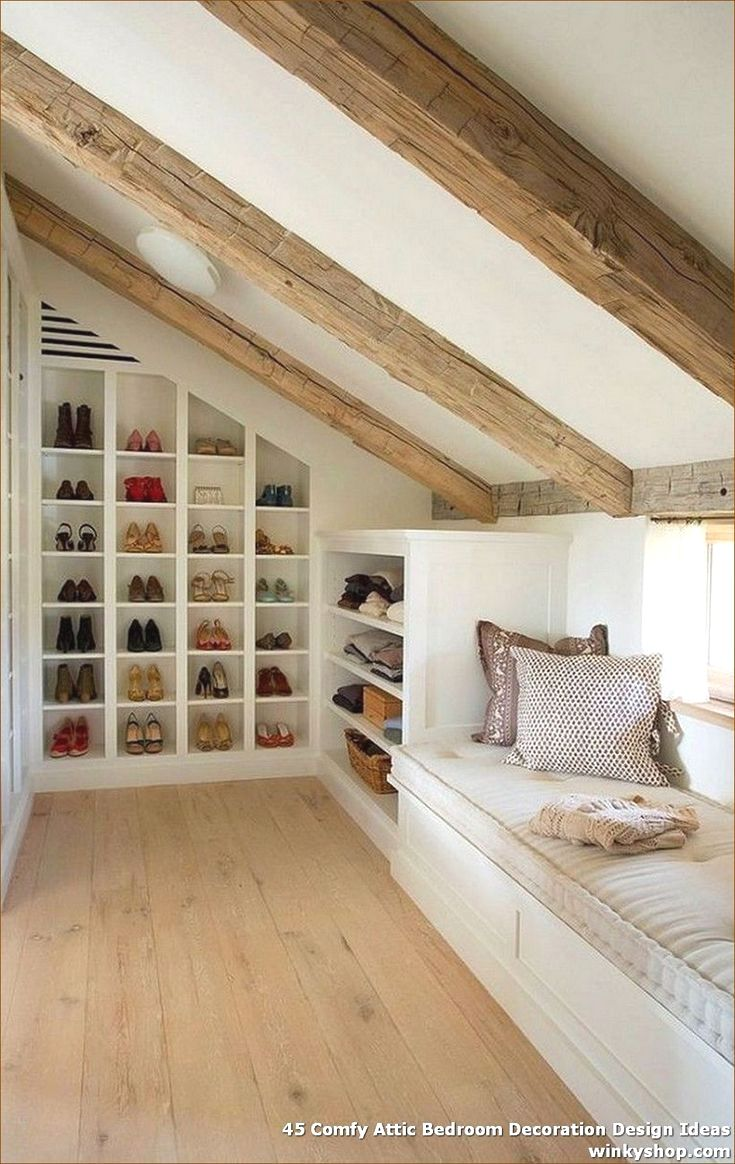 37 Interior Design Decorating Ideas For Incredible Attics In 2020 Simple Bedroom Bedroom Layouts Bedroom Storage For Small Rooms