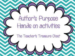 The Teacher's Treasure Chest: Free activities for Author's Purpose