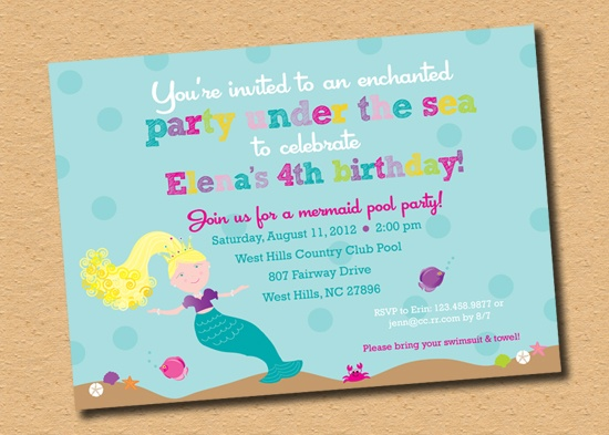 "Cute & Colorful ""Magical Mermaid Party"" Invitation by Inkberry Cards!: Card Repin By Pinterest, Inkberri Cards Repin, Cards Repin By Pinterest, Inkberri Card Repin"