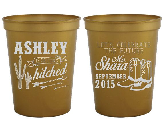 Western Bachelorette Party Cups Bachelorette Party by SipHipHooray