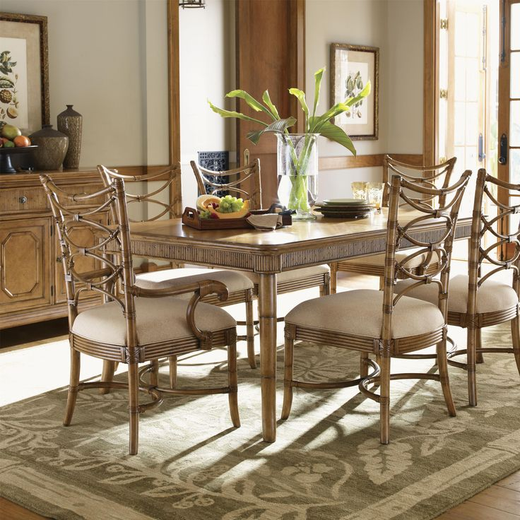 Lowest Price Online On All Tommy Bahama Home Beach House Boca Grande Dining  Table In Golden Umber