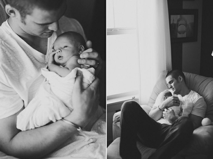 so simple daddy and baby photography in black and white - I love the picture of preggo mama in the background in the second picture