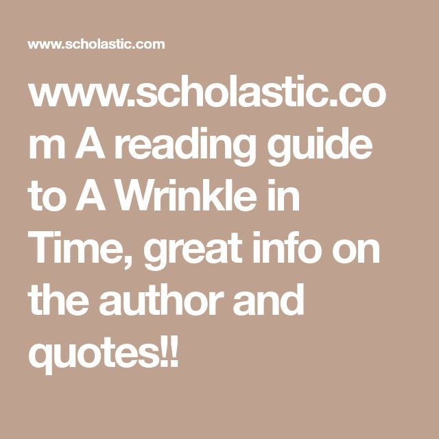 A Wrinkle in Time Book Series | Study.com