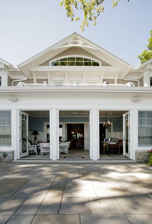 Amazing Gable End Trim And Entrance To Sunroom. French Doors, Balcony, Fishy Trim,