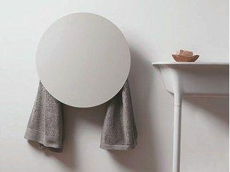Sèche serviettes électrique mural en aluminium ROUND - mg12