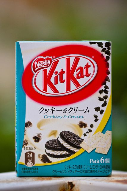 KitKat Cookies and Cream - Japan has the best KitKats!! Jealous D: