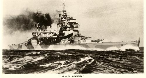 HMS Anson at sea