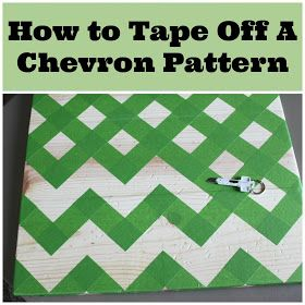 Tried it before I pinned it - great way to do a Chevron pattern!! 2 Crafty 4 My Skirt: How To Tape Off A Chevron Pattern
