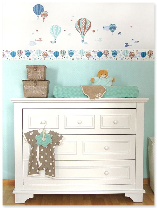 hei luftballons boys taupe mint selbstklebende kinderzimmer bord re wandsticker passende. Black Bedroom Furniture Sets. Home Design Ideas