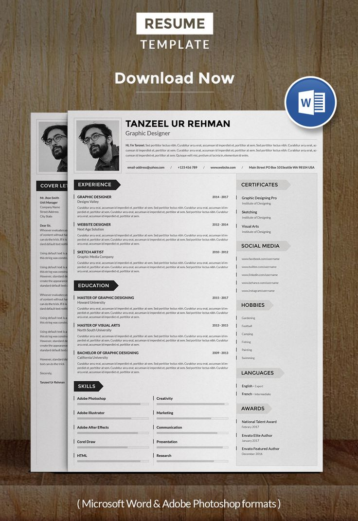 An attractive resumecv template with super clean and
