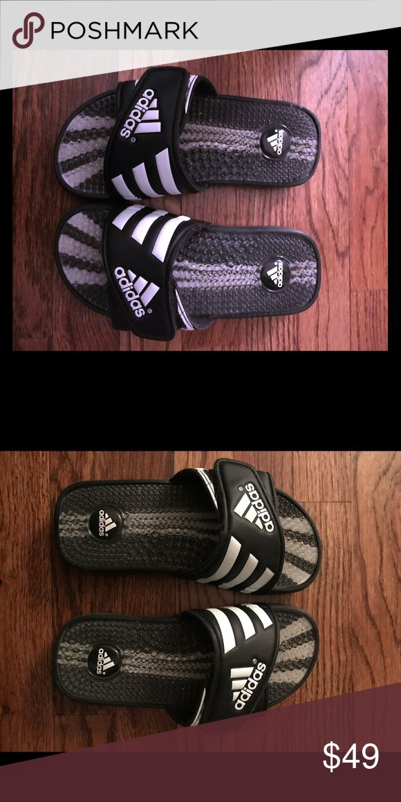 Adidas flip flops Adidas flip flops with beading  Lightly worn adidas Shoes Sandals