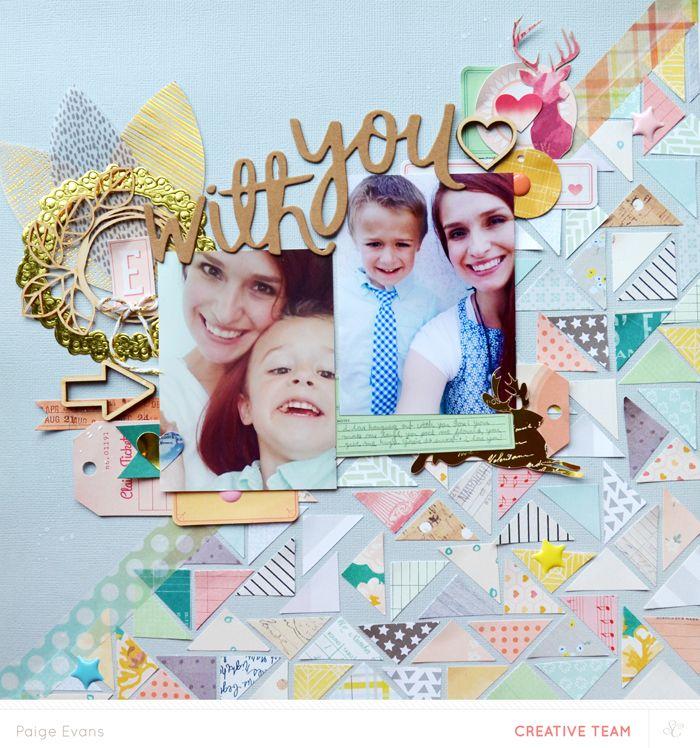 Patterned paper scraps background tutorial - Paige Evans @studio_calico