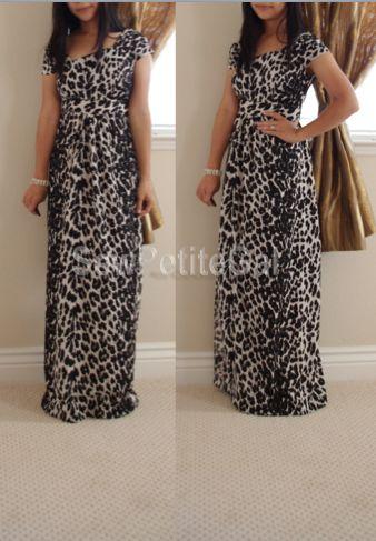 SewPetiteGal: Asymmetrical Leopard Maxi Dress DIY
