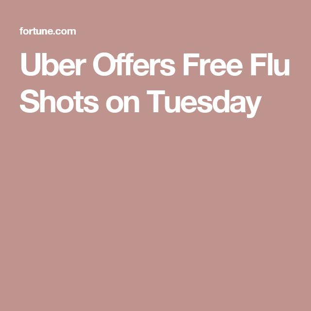 Uber Offers Free Flu Shots on Tuesday