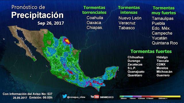 Periodismo sin Censura: Pronóstico Meteorológico General 26 de Septiembre ...