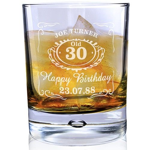 Personalised Jack Daniels Whisky Bubble Glass  from Personalised Gifts Shop - ONLY £14.99