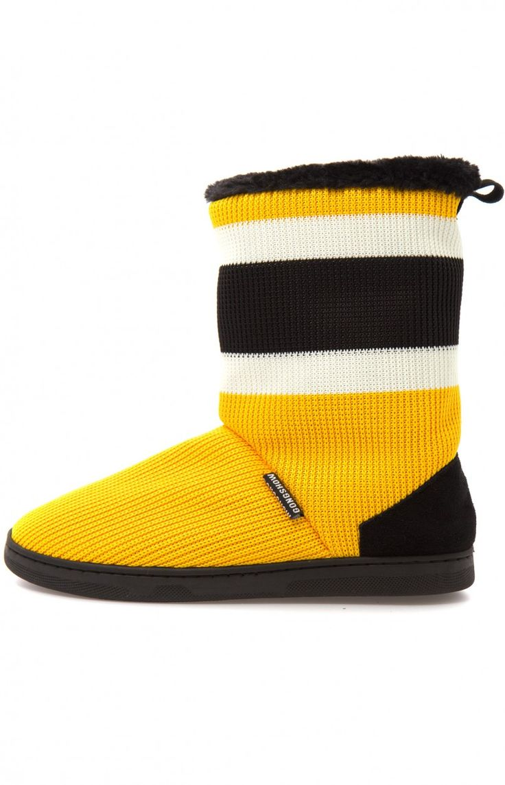 Slip into these beauties made of real hockey sock in your favourite team colour. ...