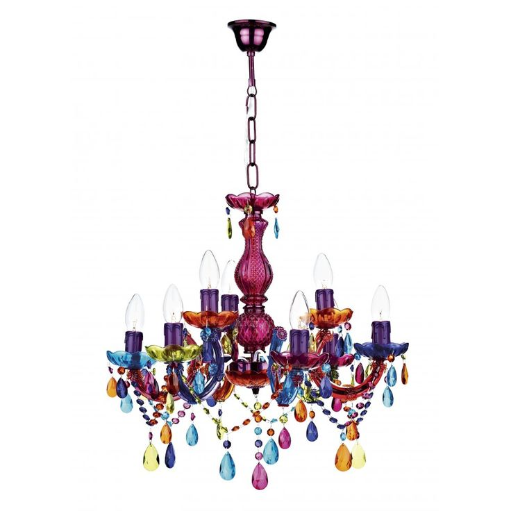 Dar  SOU1355 Souk 9 Light Multi Colour Chandelier