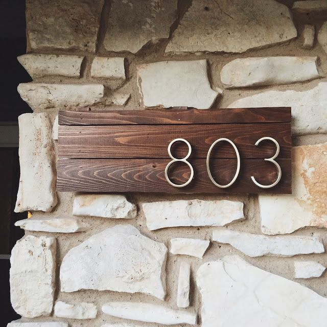 DIY House Numbers Sign #LatinaBloggers