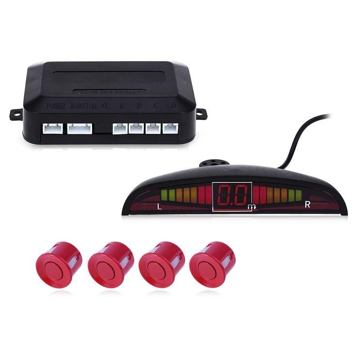 Universal Kit de Sensor de Aparcamiento LED Display Sonido de Zumbido Sistema Monitor de Reversa de reserva Del Radar de 4 Sensores de Ayuda Al Aparcamiento de Coches