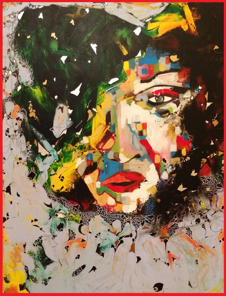Mixed Media on Canvas by Hesham Malik.