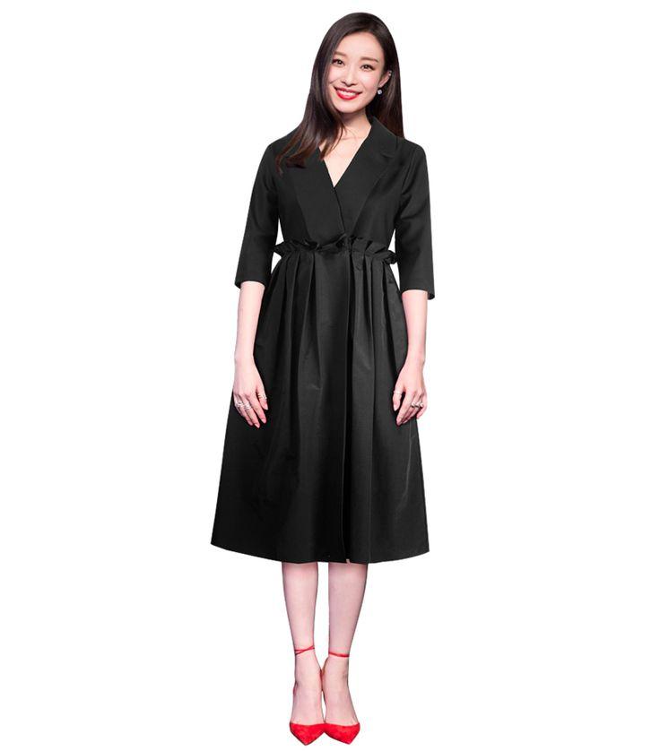 Осень платья для женщин плюс размер одежды черные готические платья отложным воротником половина рукава женщины midi баски рюшами dressкупить в магазине Runway Life StoreнаAliExpress