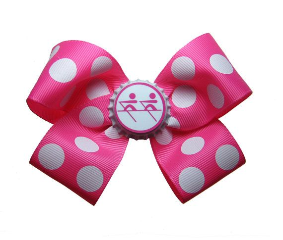 My Crew president would LOVE this. This totally reminds me of her. Large Rowing Crew Hair Bow by APinkLemonadeDesigns on Etsy, $6.00