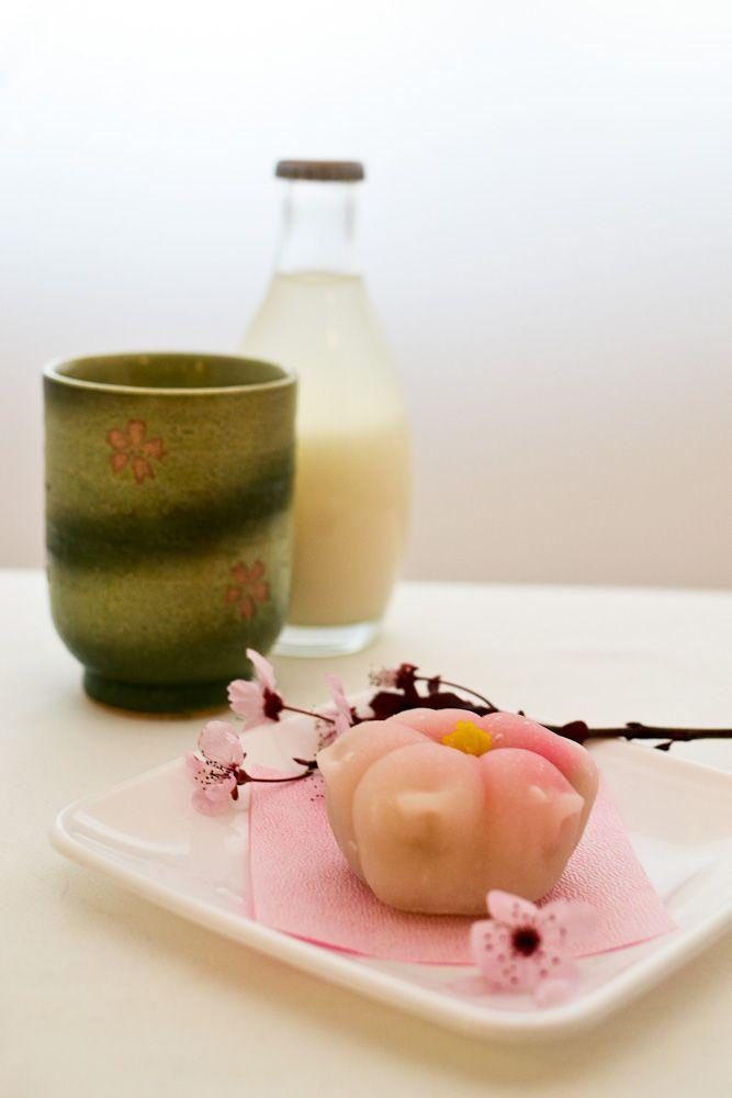 Sakura shaped mochi
