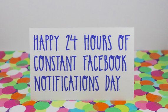 Funny Facebook Birthday Card. Happy 24 Hours of by BettieConfetti