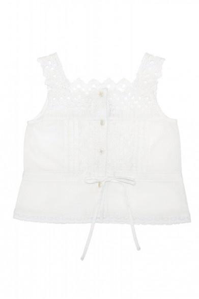 Enfant Cotton Eyelet Embroidery Camisole