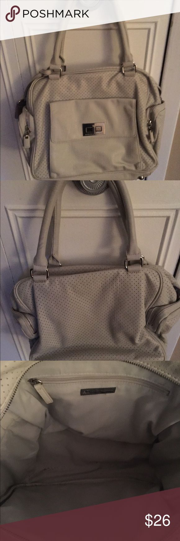 👜 Armani Exchange Handbag Gently worn Armani Exchange Handbag.. Color is white grayish.. A/X Armani Exchange Bags Satchels