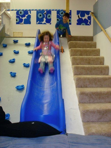 36 best images about slides climbing walls and poles on for Indoor play slide