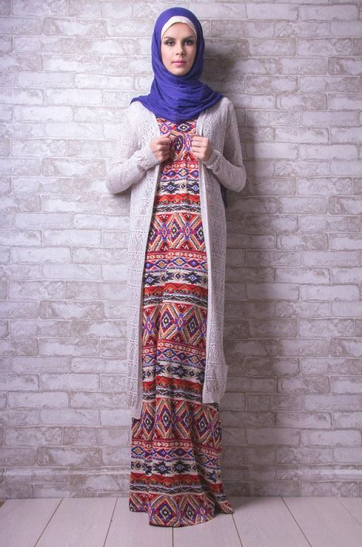 long cardigan hijab look | Hijab