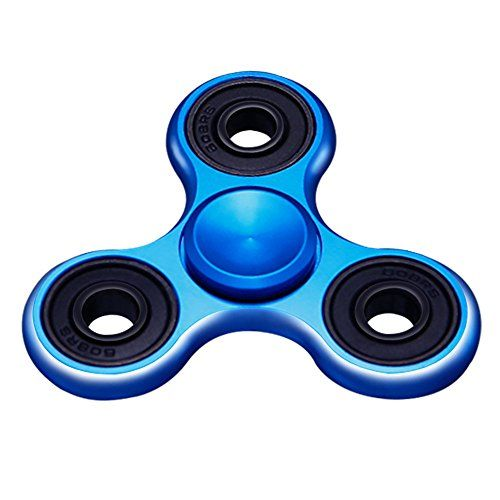BESTTY Metal 3D Ultra Durable Triangle Hand Spinner EDC Fidget Spinner Toy Fingertip Gyro for For ADD ADHD Anxiety Made High Speed  Up to 5 Mins  Product Feature: Color : Black / Sliver / Blue / Rainbow / Butterfly Size: 2.48  1.06  0.35 inch Thickness:0.35 inch (0.9CM) Weight: 0.18lb (82g)  Product Description: 2-5 Minute Average Spins! Gold Spinner Fidget (This depends on the power you use to spin) High Speed Premium Ceramic Bearing .These are removable. Great Toy For Fidgeters. Flick And…