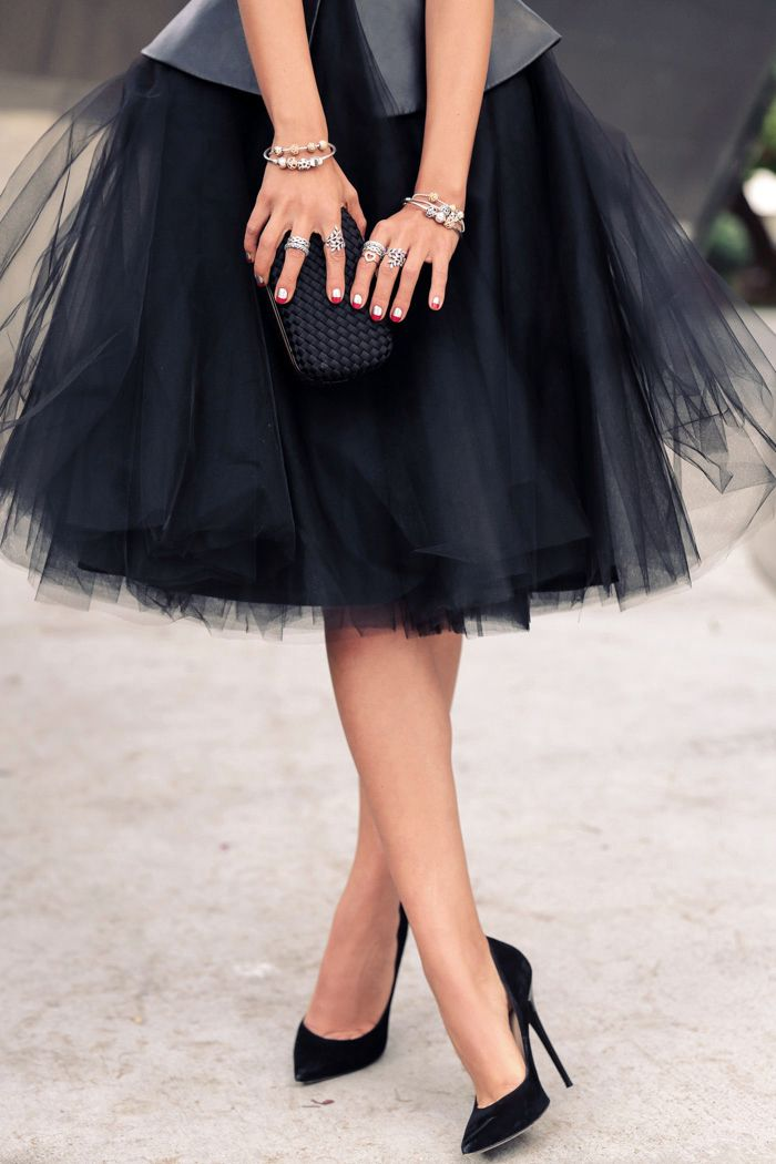 Fashion Inspiration | Leather & Tulle
