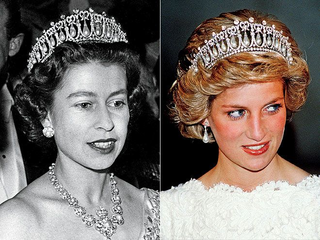 THE CAMBRIDGE LOVER'S KNOT Queen Elizabeth gave this pearl-and-diamond tiara (seen on her in 1958) to Diana as a wedding gift, but experts tell PEOPLE they'd be surprised if the tiara will pass down to Kate.
