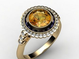 Elegant citrine and sapphire ring Google Search