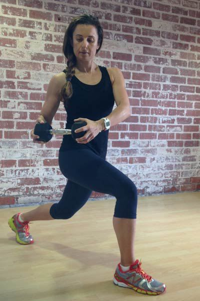 reverse-lunge-with-rotation-- athletic build workout
