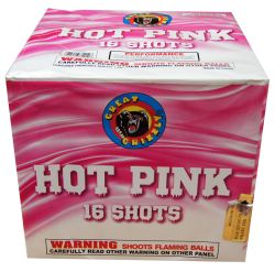Hot Pink - 16 Shot | NCI, Inc. Indiana Fireworks Wholesale PERFECT FOR GENDER REVEAL CELEBRATIONS!