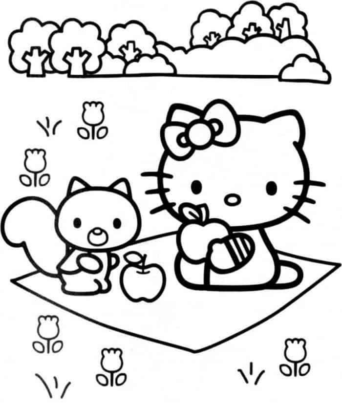 Hello Kitty Picnic Coloring Pages Hello Kitty Coloring Hello