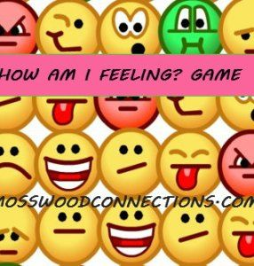 How Am I Feeling? Game Recognizing and showing feelings is difficult for some children.  This game deliberately mismatches the words to the feelings so that one needs to pay attention to the facial expression, body language and tone in order to correctly guess the feeling.