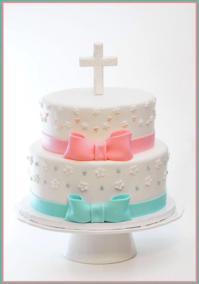 Communion cake for a boy and a girl