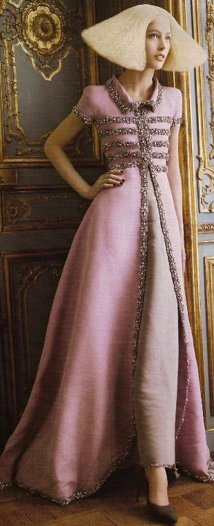 Chanel Haute Couture 'Alighting' Vogue Editorial- I love this outfit,but hate the hair and styling!!!