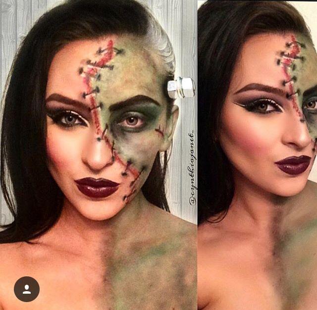 The Bride of Frankenstein Halloween #makeuplook by @iluvcinthya /Instagram/ More