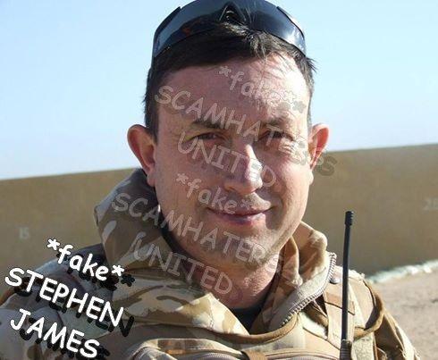 STEPHEN JAMES, FAKE U.S. Army USING THE STOLEN PICTURES OF STEPHEN MURPHY https://www.facebook.com/savethemurph/posts/350180025352941