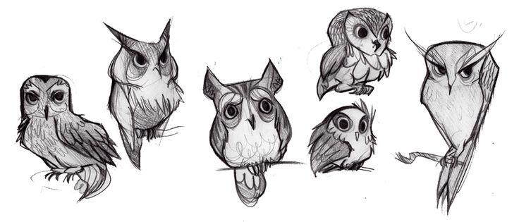 Best 25 cartoon birds ideas only on pinterest acrylic for Cartoon owl sketch