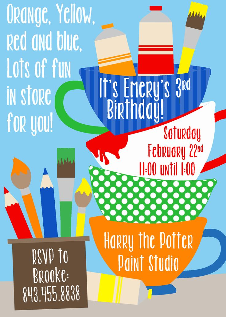 8 best invitations images on Pinterest | Birthday party ideas ...