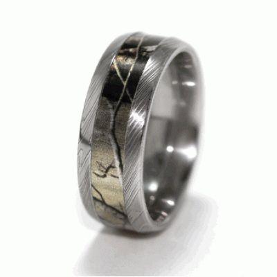 Damascus Steel Camo Ring Shotgun